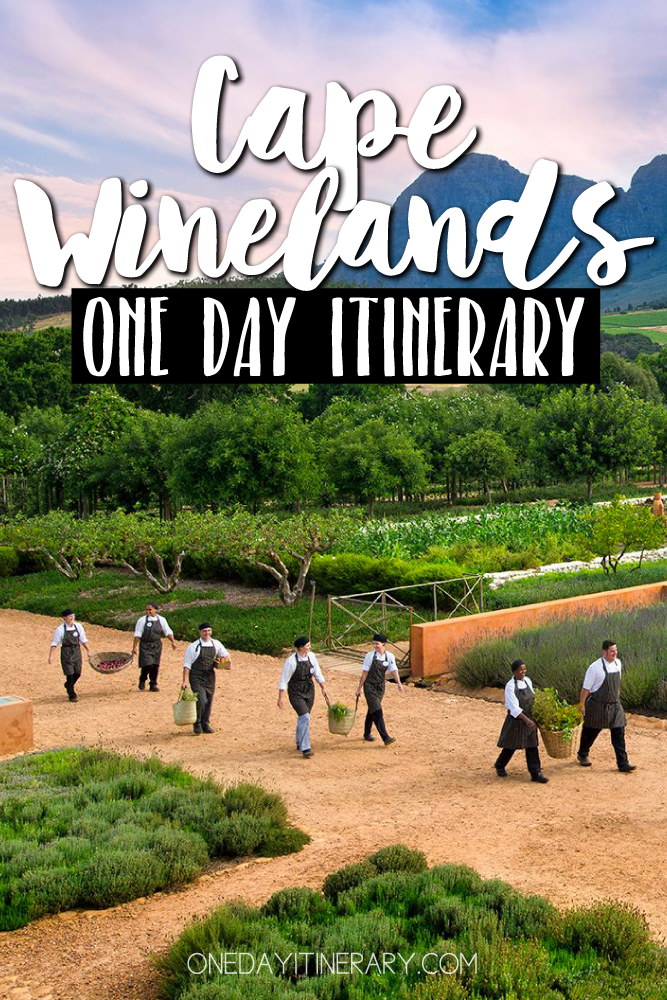 Cape Winelands South Africa One day itinerary