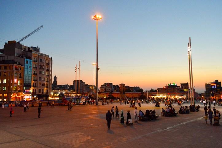 Taksim at night