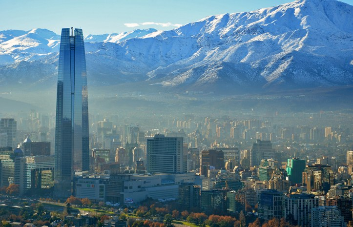 Santiago in the winter