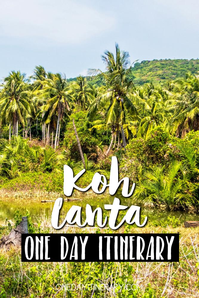Koh Lanta Thailand One day itinerary