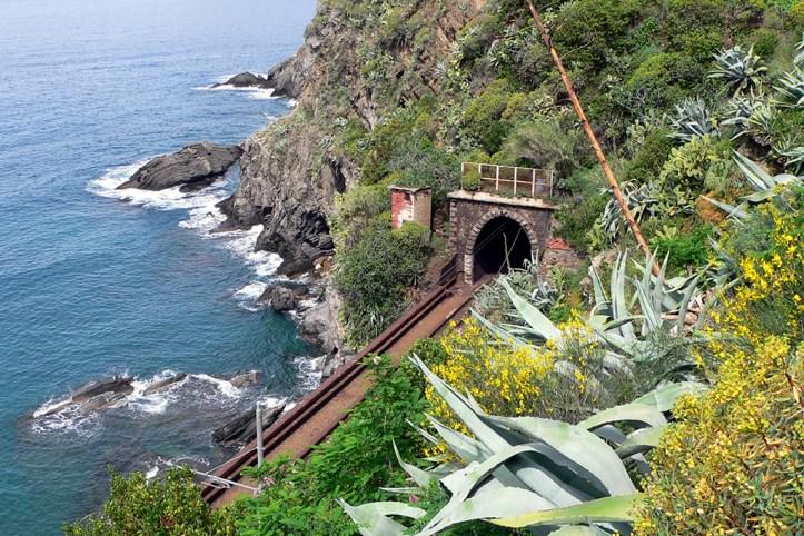 Railway in Cinque Terre