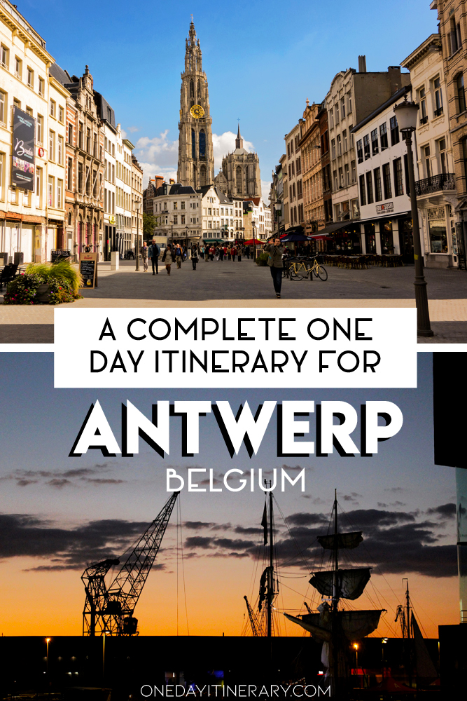 A complete one day itinerary for Antwerp, Belgium