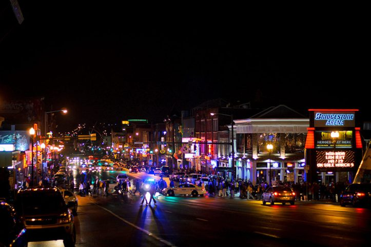 Downtown Nashville at nightDowntown Nashville at night