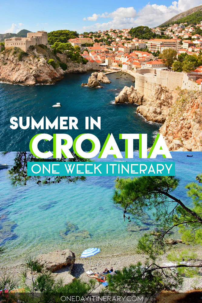 Summer in Croatia - One week itinerary