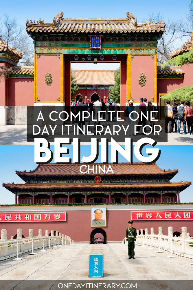 A complete one day itinerary for Beijing, China