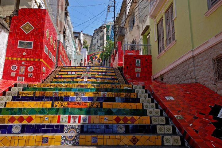 Escadaria Selarón in Santa Teresa, Rio de Janeiro