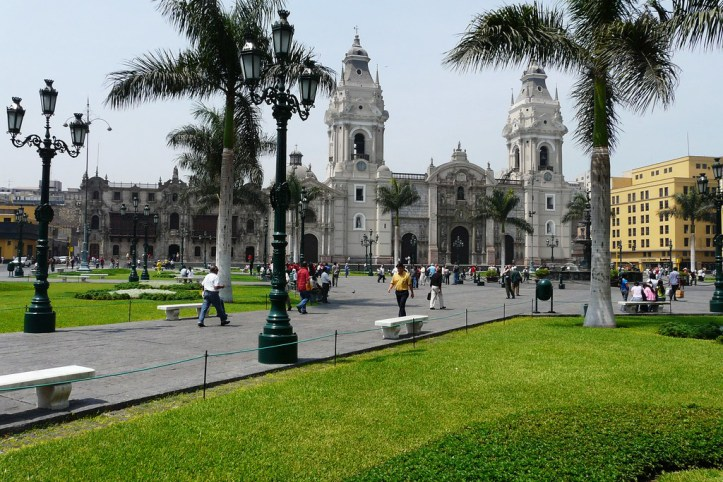 Lima Cathedral and Archbishop's palace, Lima