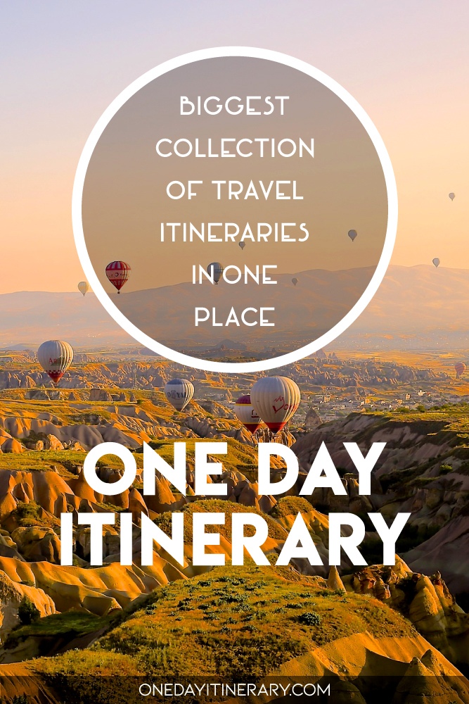 One Day Itinerary - Biggest collection of travel itineraries in one place