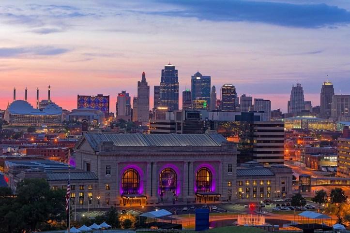 Kansas City at dusk