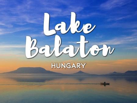 one day in balaton lake