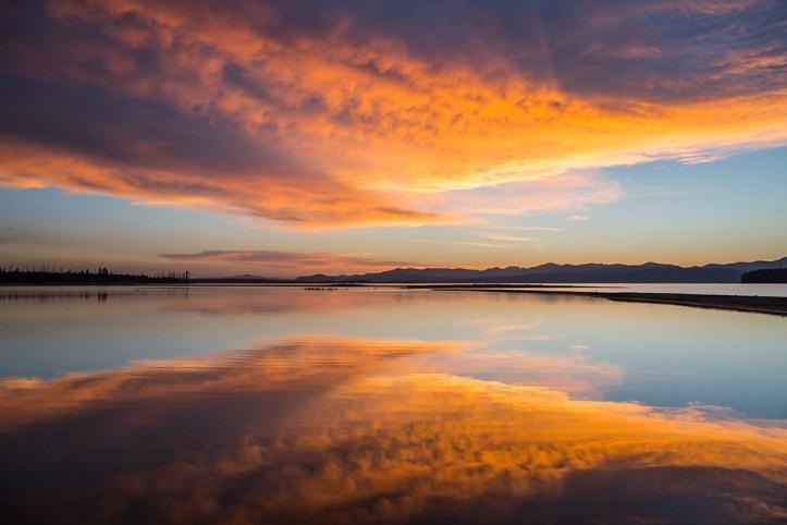 Sunrise Yellowstone Lake, Yellowstone National Park