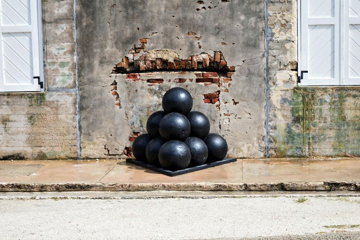 A stack of Cannonballs at the Fort Zachary Taylor, Key West