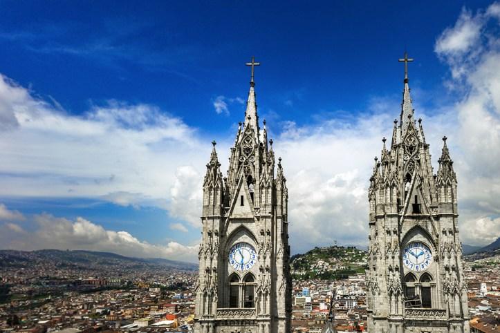 Basílica del Voto Nacional bell towers, Quito