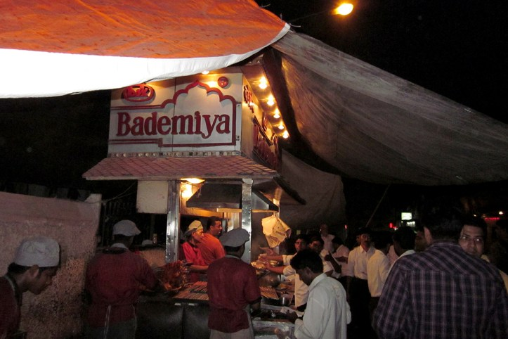 Kebab at Bademiya, Mumbai