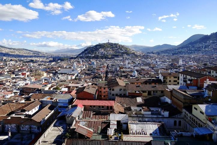 View from the Basilica Del Voto Nacinal, Quito