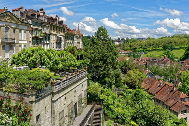 View from the Münsterplattform, Bern