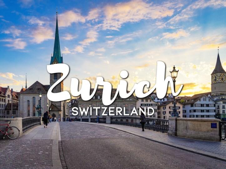 One day in Zurich itinerary, Switzerland