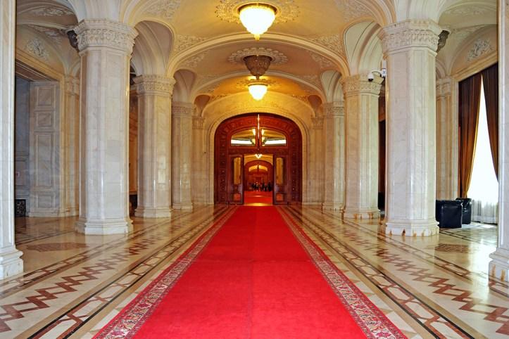 Palace of Parliament Hallway, Bucharest