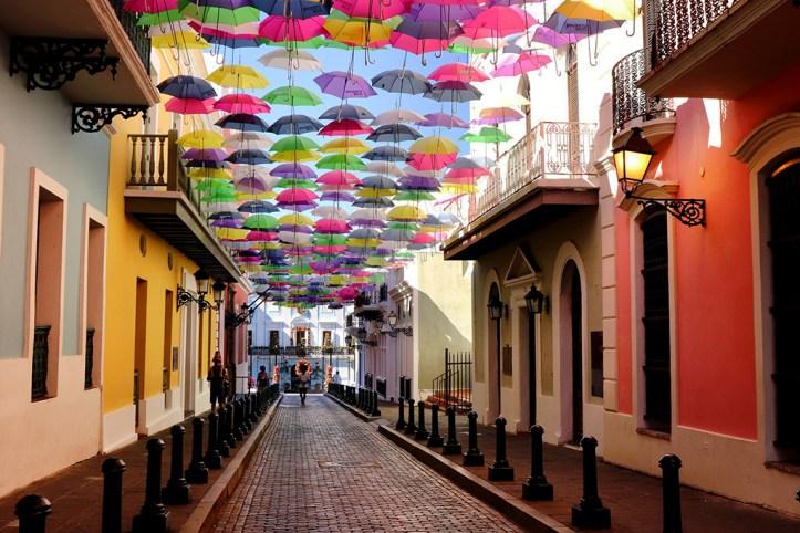 Colorful street, San Juan