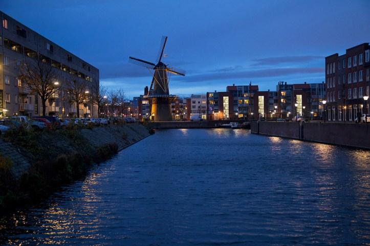 Delfshaven at night, Rotterdam