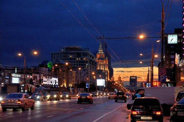 Arbat street at night, Moscow at night