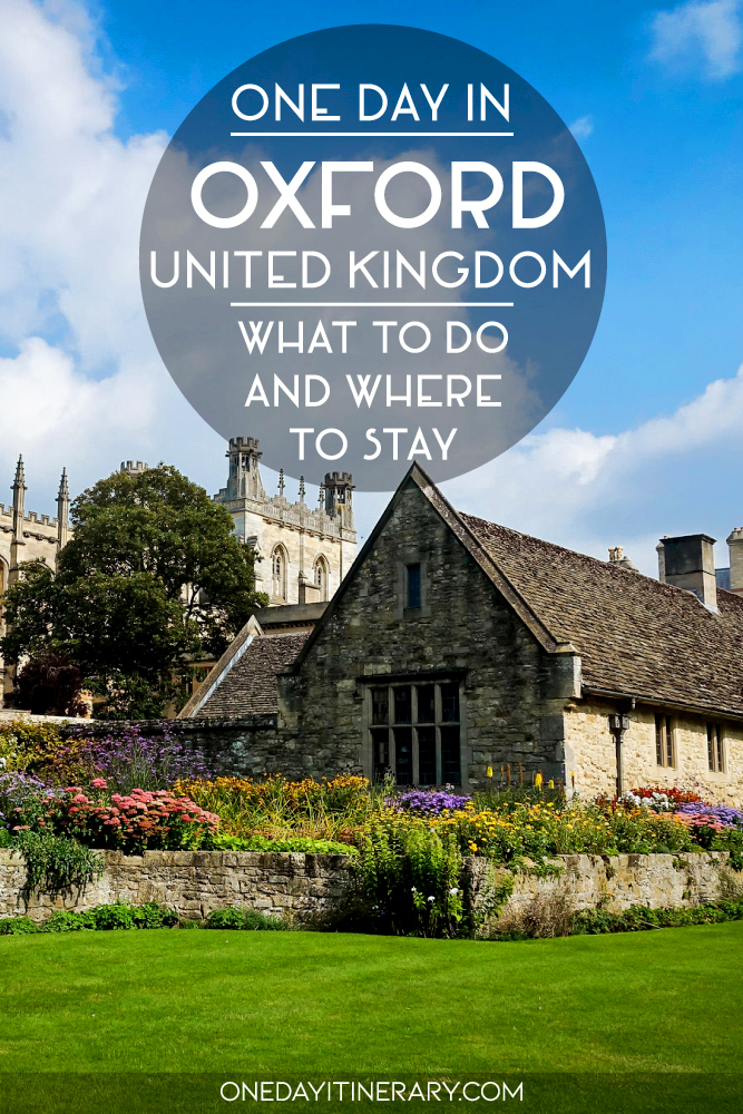 One day in Oxford, UK - What to do and where to stay
