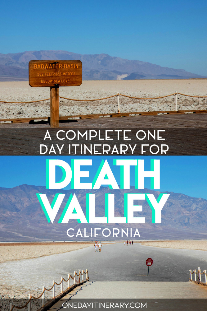 A complete one day itinerary for Death Valley, California