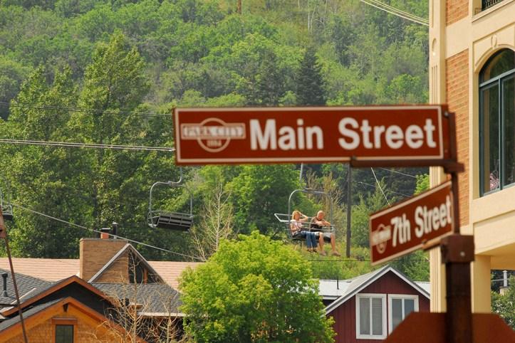 Main Street Sign, Park City