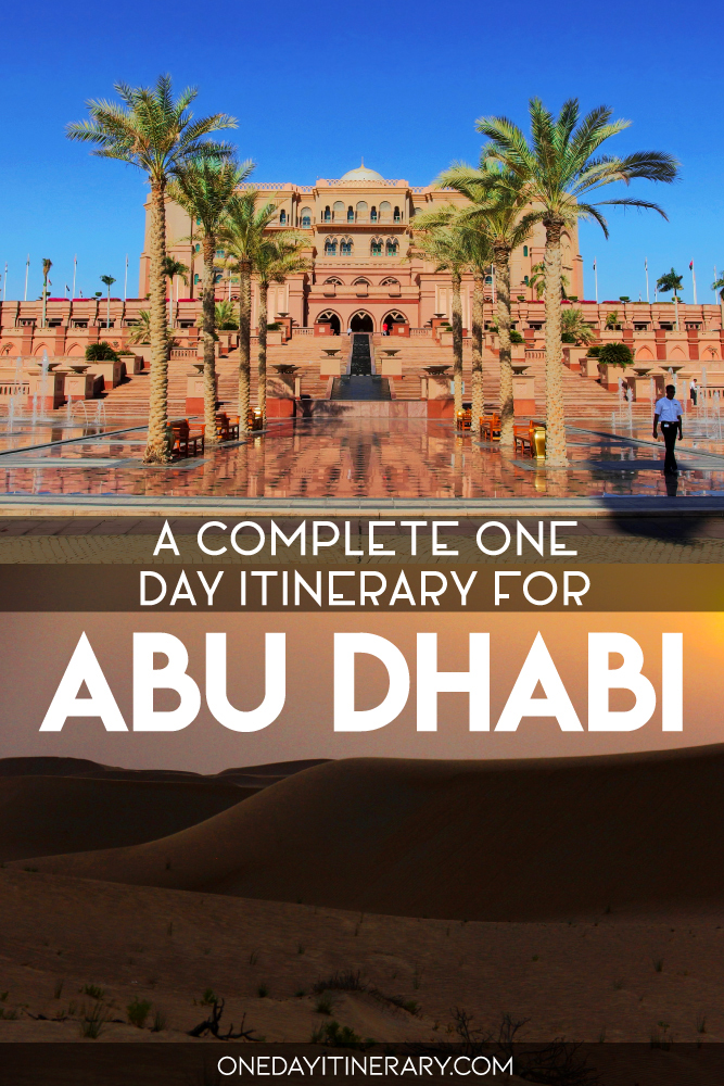 A complete one day itinerary for Abu Dhabi