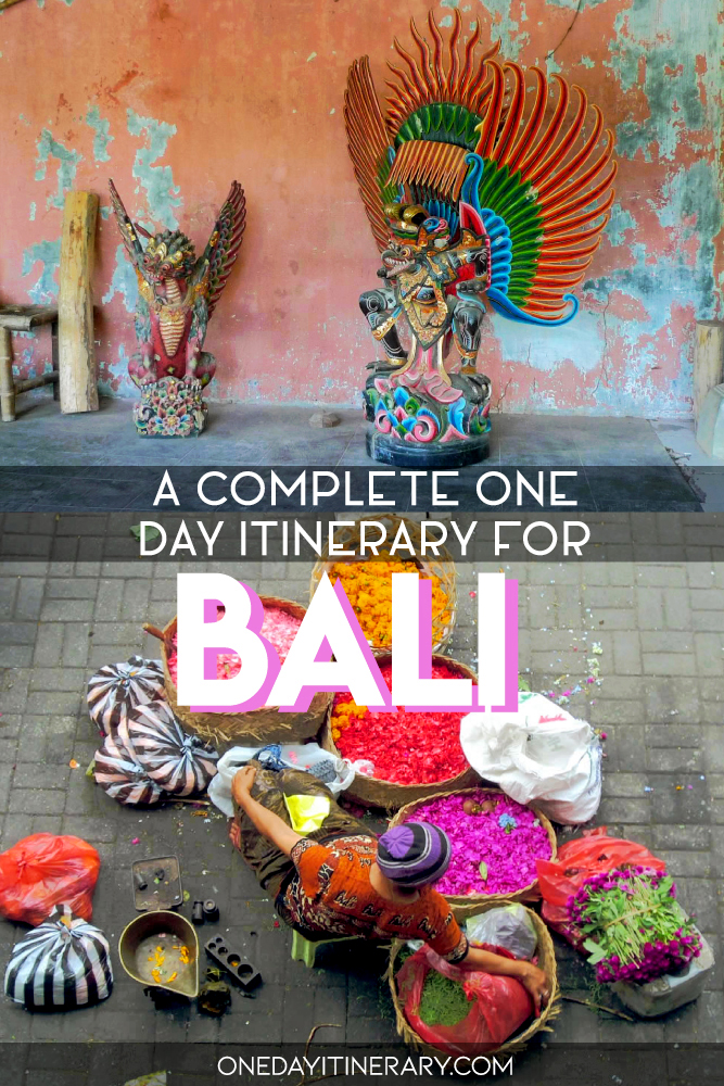 A complete one day itinerary for Bali