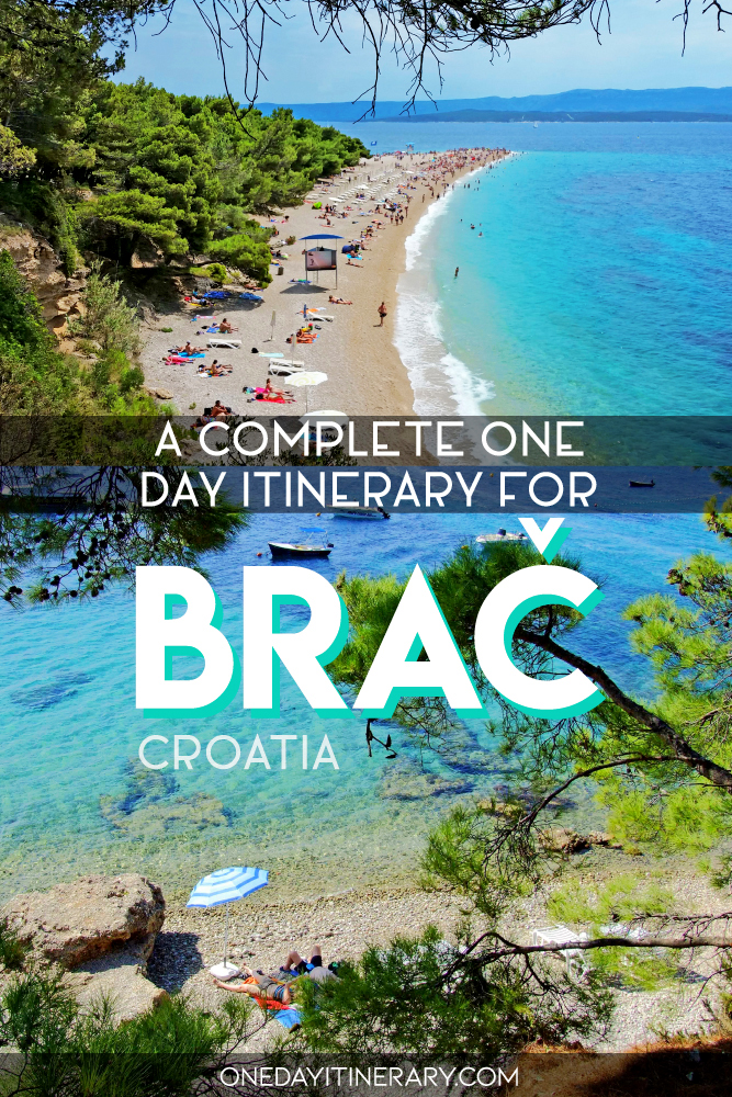 A complete one day itinerary for Brac, Croatia