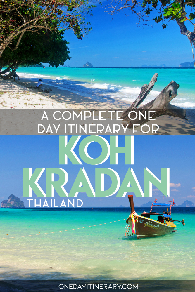 A complete one day itinerary for Koh Kradan, Thailand