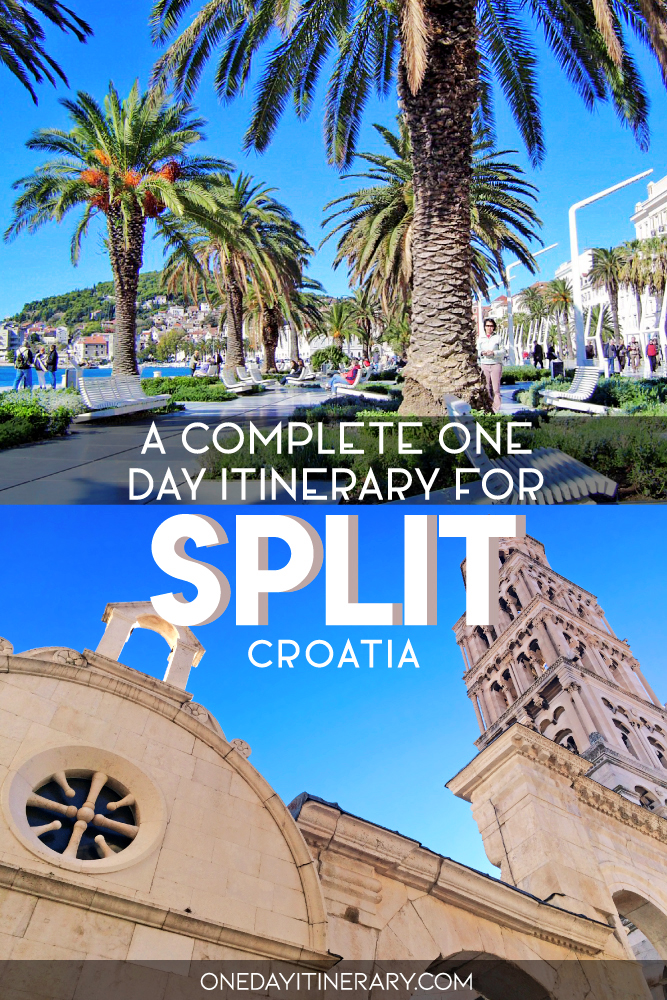A complete one day itinerary for Split, Croatia