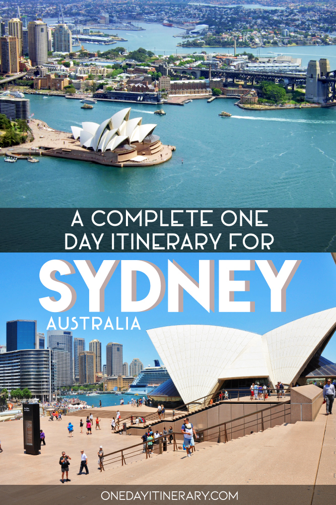 A complete one day itinerary for Sydney, Australia