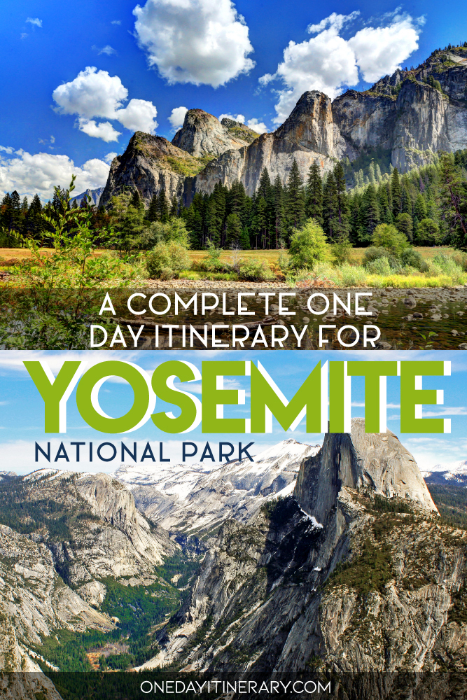 A complete one day itinerary for Yosemite National Park