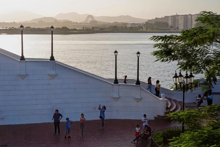 Casco Viejo in the evening, Panama City