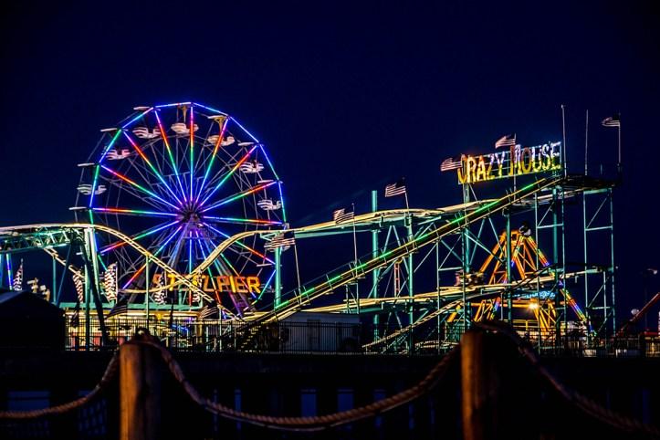 Steel Pier at night, Atlantic City