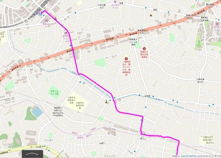 052-3つの富士山を登る港北ニュータウン:地図-01