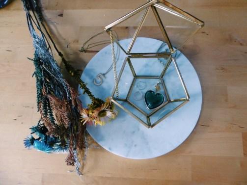 Brass hexagonal glass case (S$35)