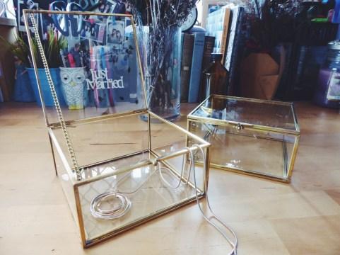 Brass square glass case (S$39)