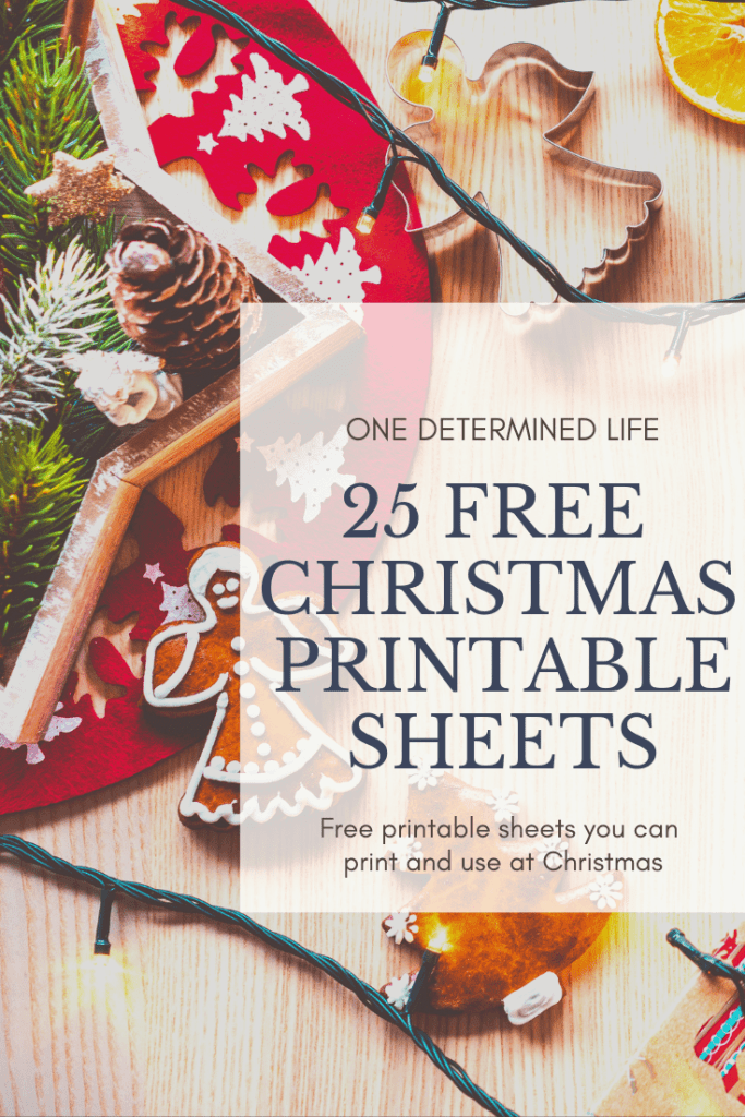 231e7577e24ab 25 free Christmas printable sheets you can print and use to decorate,  entertain your kids