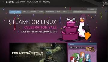 Steam para Linux arriba con cien juegos y descuentos de hasta un 75%