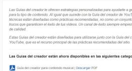 Google ofrece nuevas Guías del creador para generar contendidos en YouTube
