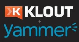 Klout se asocia con Yammer para su uso corporativo