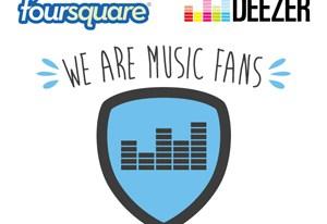 Deezer se une a Foursquare y regalará membresías Premium+