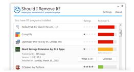 Should I Remove It?, software para Windows que ayuda a decir que aplicaciones debes eliminar de tu sistema