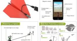 PowerUp 3.0, accesorio que permite controlar un avión de papel con tu smartphone