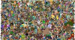 Poster con todos los personajes de la serie FUTURAMA