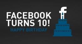 Infografía: 10 estadísticas para celebrar los 10 años de Facebook