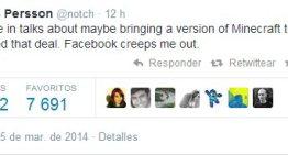 Markus Persson, el creador de Minecraft, cancela la versión para Oculus Rift tras ser éste adquirida por Facebook
